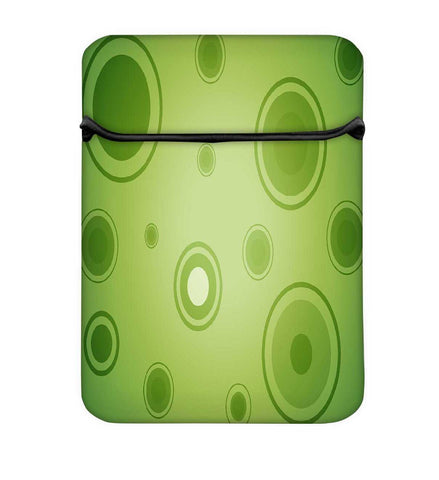 Snoogg Abstract Green Circles Laptop Case Flip Sleeve Pouch Computer Cover