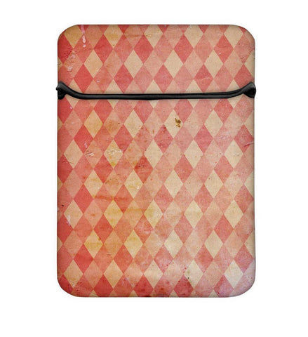 Snoogg Red Blocks Carpet Laptop Case Flip Sleeve Pouch Computer Cover