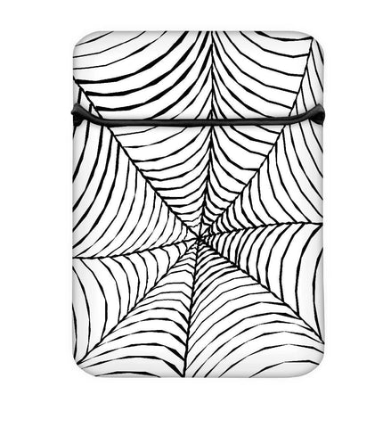 Snoogg Black Spider Web Laptop Case Flip Sleeve Pouch Computer Cover