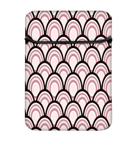 Snoogg Abstract Black Pattern Design Laptop Case Flip Sleeve Pouch Computer Cover