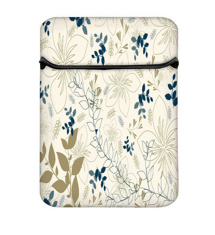 Snoogg Light Floral Design Laptop Case Flip Sleeve Pouch Computer Cover