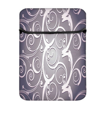 Snoogg Abstract White Grey Pattern Laptop Case Flip Sleeve Pouch Computer Cover