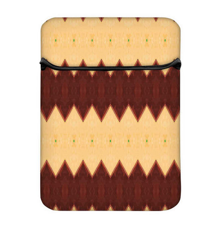 Snoogg Cream And Brown Mix Laptop Case Flip Sleeve Pouch Computer Cover