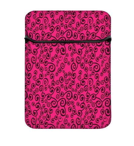 Snoogg Abstract Pink Pattern Laptop Case Flip Sleeve Pouch Computer Cover