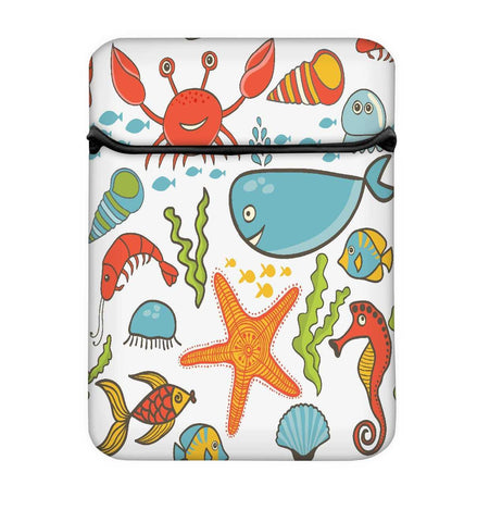 Snoogg Fish World Laptop Case Flip Sleeve Pouch Computer Cover