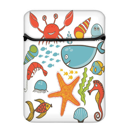 Snoogg Fish World Abstract Laptop Case Flip Sleeve Pouch Computer Cover