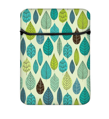 Snoogg Dark Blue Leaves Laptop Case Flip Sleeve Pouch Computer Cover