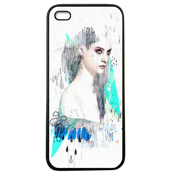 Angry Girl iphone 5 Case Cover