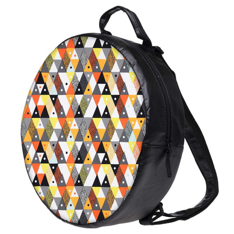 Snoogg Aztec Orange Grey Yellow Bookbag Rounded Backpack Boys Girls Junior School Bag PE Shoulder Bag