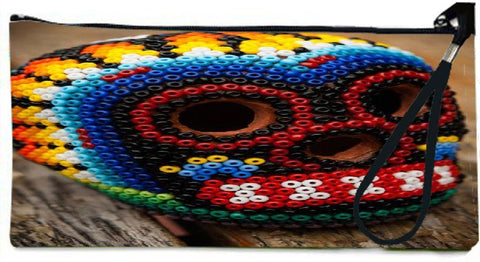 Snoogg  Beaded Skull Wallet Clutch Pouch