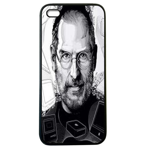 Jobs Black and White iphone 5 Case Cover
