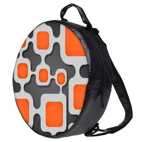 Snoogg Digital Tube Bookbag Rounded Backpack Boys Girls Junior School Bag PE Shoulder Bag