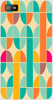 Abstract Pattern Blue and Yellow  For Blackberry Z10H