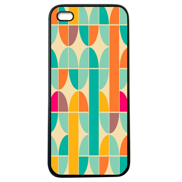 Abstract Pattern Blue and Yellow iphone 4 Case Cover