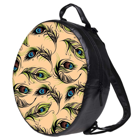 Snoogg Peacock Pattern Bookbag Rounded Backpack Boys Girls Junior School Bag PE Shoulder Bag