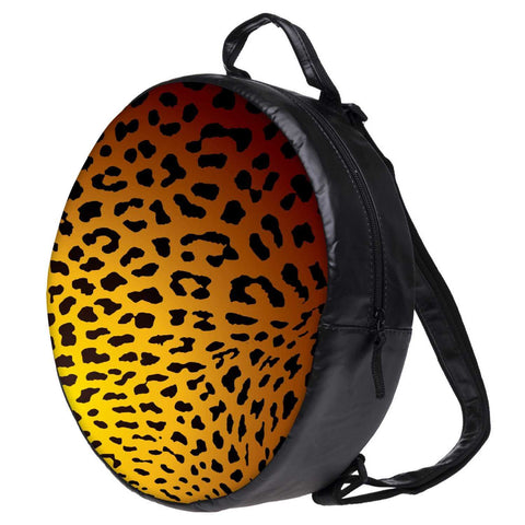 Snoogg Leopard Print Bookbag Rounded Backpack Boys Girls Junior School Bag PE Shoulder Bag