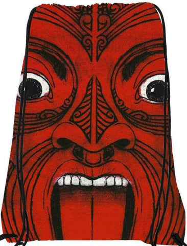 Snoogg  Aztec Face Nylon Drawstring bacpack / sack bag