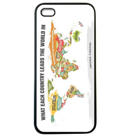 Funny World Country Details iphone5 Case Cover