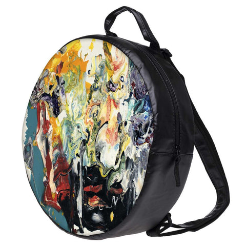 Snoogg Wall Art Painting Bookbag Rounded Backpack Boys Girls Junior School Bag PE Shoulder Bag