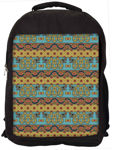 Snoogg  Aztec Pattern Mustard Laptop Backpack Casual School Backpack