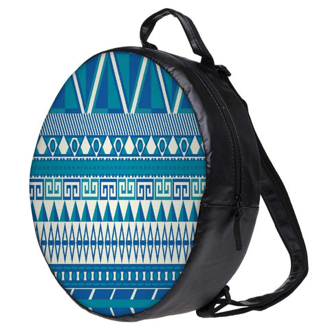 Snoogg Aztec Pattern Triangular Bookbag Rounded Backpack Boys Girls Junior School Bag PE Shoulder Bag