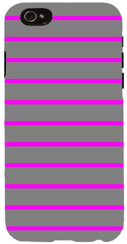 Snoogg  Horizontal lining  pattern design 1985 Case Cover For Apple Iphone 6+