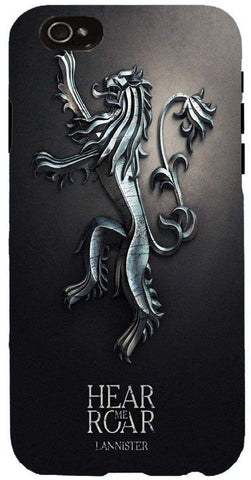 Snoog hear roar game of thrones 2485 Case Cover For Apple Iphone 6+