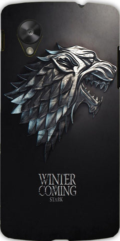 Snoogg Winter is coming game of thrones 2537 Case Cover For Google Nexus 5