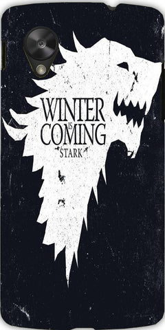 Snoogg Winter is coming game of thrones 2560 Case Cover For Google Nexus 5