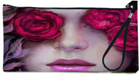 Snoogg woman in roses 2563 Wallet Clutch Pouch