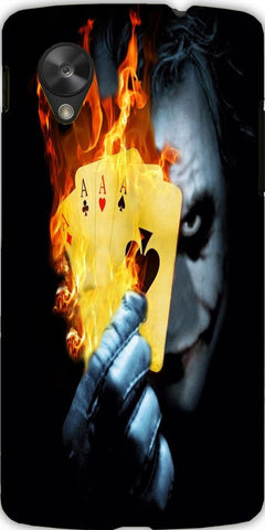Snoogg burning poker joker 2599 Case Cover For Google Nexus 5