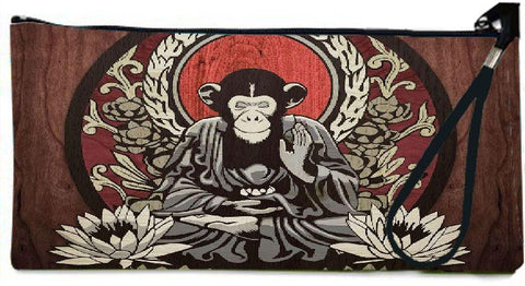 Snoogg meditating monkey 2656 Wallet Clutch Pouch