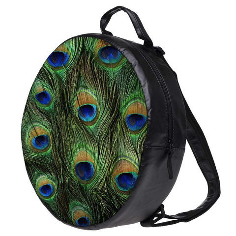 Snoogg Feather Pattern Bookbag Rounded Backpack Boys Girls Junior School Bag PE Shoulder Bag