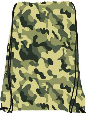 Snoogg Camo Green military 2764 Nylon Drawstring bacpack / sack bag