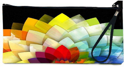 Snoogg colorful flower petals 2768 Wallet Clutch Pouch