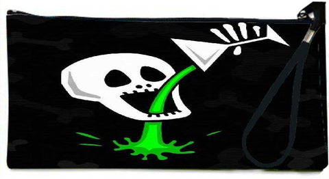 Snoogg skull drinking poison 2787 Wallet Clutch Pouch