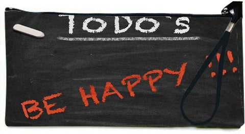 Snoogg ToDo Happy graphic 2803 Wallet Clutch Pouch