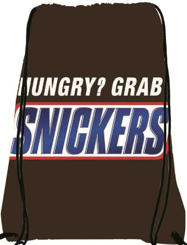 Snoogg Hungry snickers 2863 Nylon Drawstring bacpack / sack bag