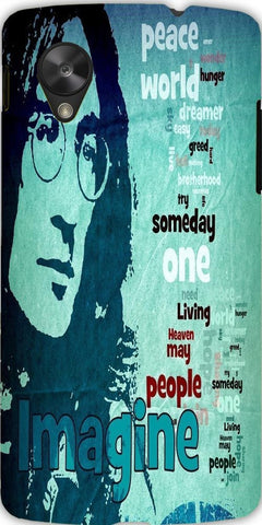 Snoogg Imagine John Lennon 2866 Case Cover For Google Nexus 5