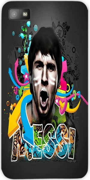 Snoogg soccer lionel messi digital art 2947 Case Cover For Blackberry Z10 bbz10