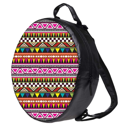 Snoogg Aztec Multicolour Bookbag Rounded Backpack Boys Girls Junior School Bag PE Shoulder Bag