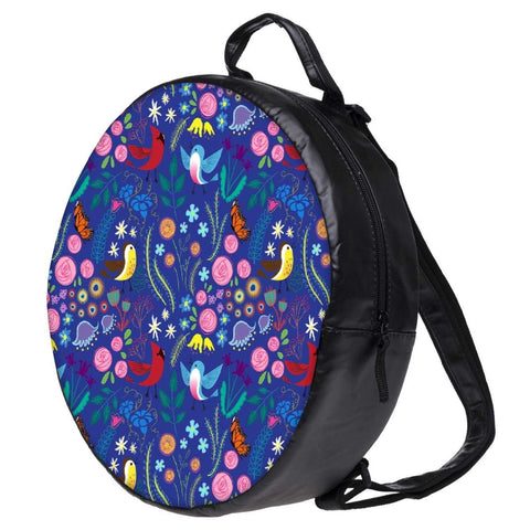 Snoogg Bird Floral Patterns Bookbag Rounded Backpack Boys Girls Junior School Bag PE Shoulder Bag