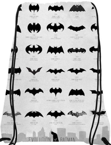 Snoogg  Batman Over the YearsNylon Drawstring bacpack / sack bag