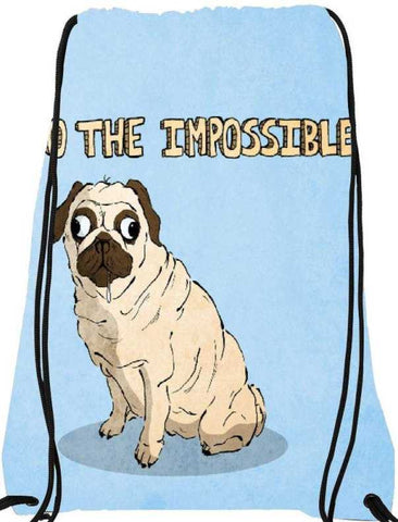 Snoogg  Do the Impossible CuteNylon Drawstring bacpack / sack bag
