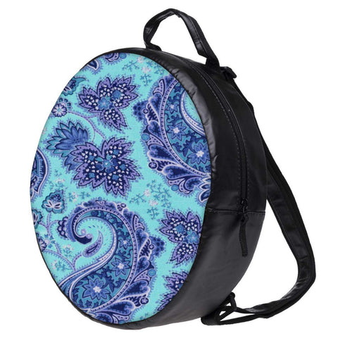 Snoogg Paisley Print Blue Bookbag Rounded Backpack Boys Girls Junior School Bag PE Shoulder Bag