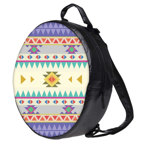 Snoogg Aztec Pattern Purple Bookbag Rounded Backpack Boys Girls Junior School Bag PE Shoulder Bag