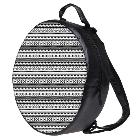 Snoogg Aztec Black and White Bookbag Rounded Backpack Boys Girls Junior School Bag PE Shoulder Bag