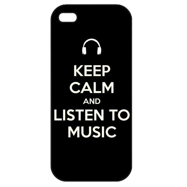 Keep calm and listen to music  Iphone 5
