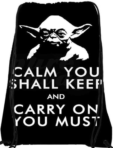 Snoogg  Calm You Shall KeepNylon Drawstring bacpack / sack bag