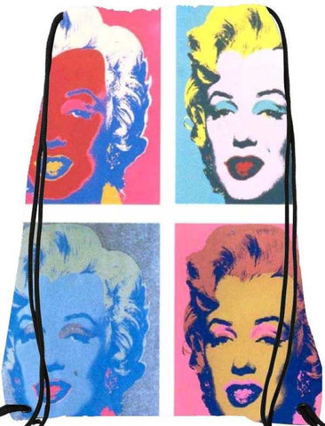 Snoogg  Art Pop Marlyn MonroeNylon Drawstring bacpack / sack bag
